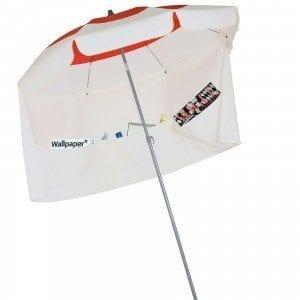Parasol de balcon Deauville avec jupe antivent Accessoire de soleil