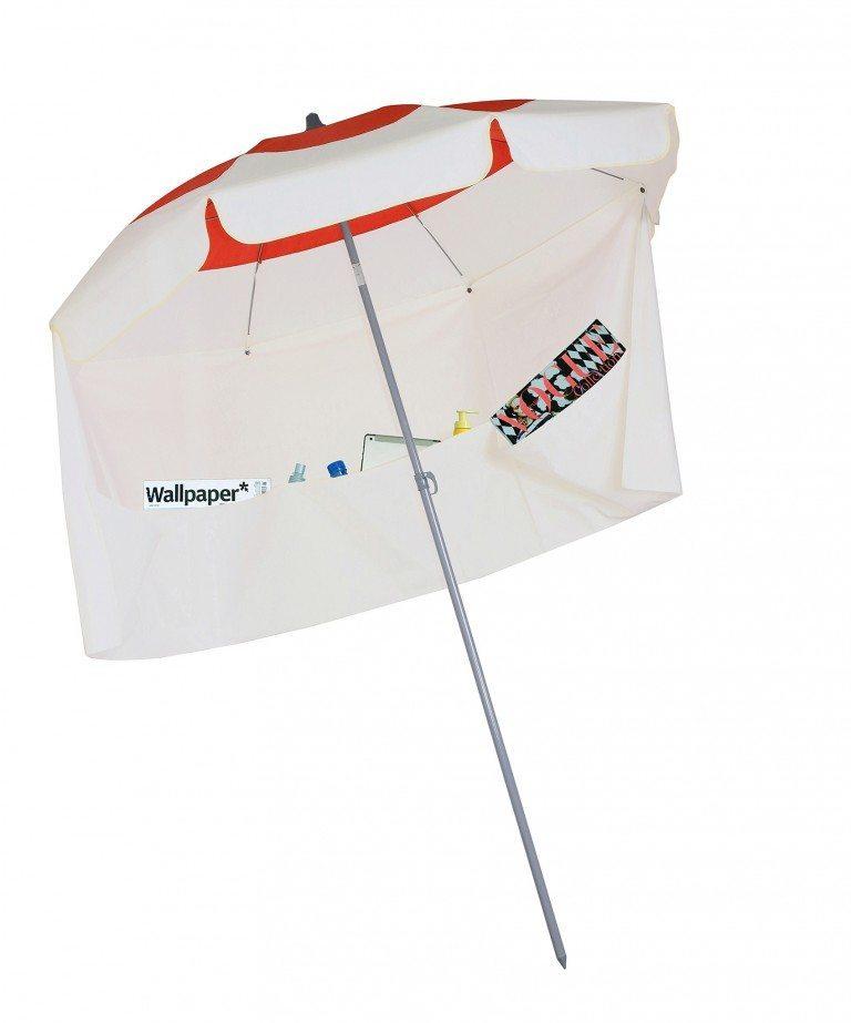 Solde Parasol de balcon Deauville avec jupe antivent Accessoire de soleil