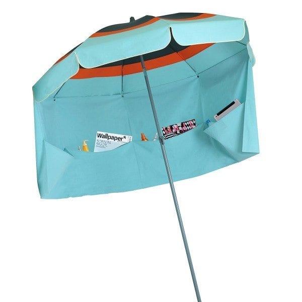 turquoise orange anthracite lacanau parasol de plage
