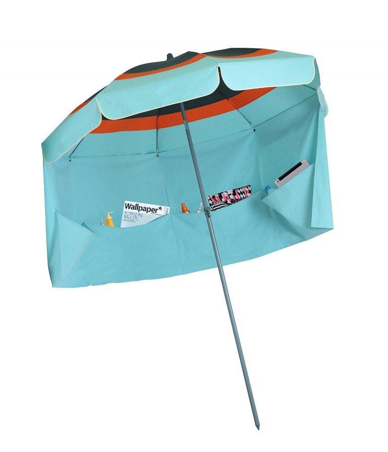 parasol plage pas cher Lacanau Accessoire de soleil - parasol avec jupe coupe-vent