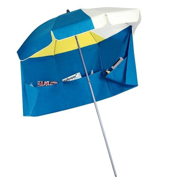 blanc bleu jaune rio Parasol de plage