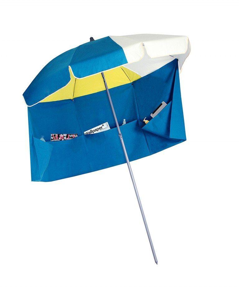 parasol de plage Rio avec jupe antivent en solde sur Accessoire de soleil