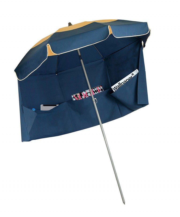 Solde parasol de jardin Cancun et jupe antivent Accessoire de soleil