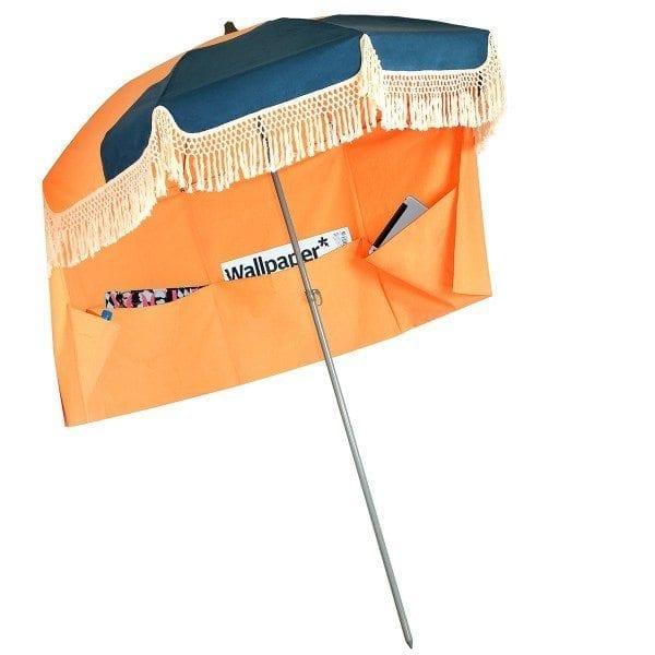 marine orange pondichery parasol de plage