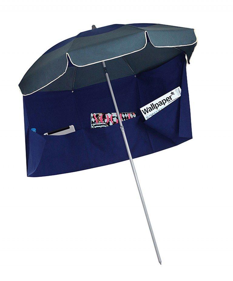 parasol inclinable Biarritz avec jupe antivent Accessoire de Soleil