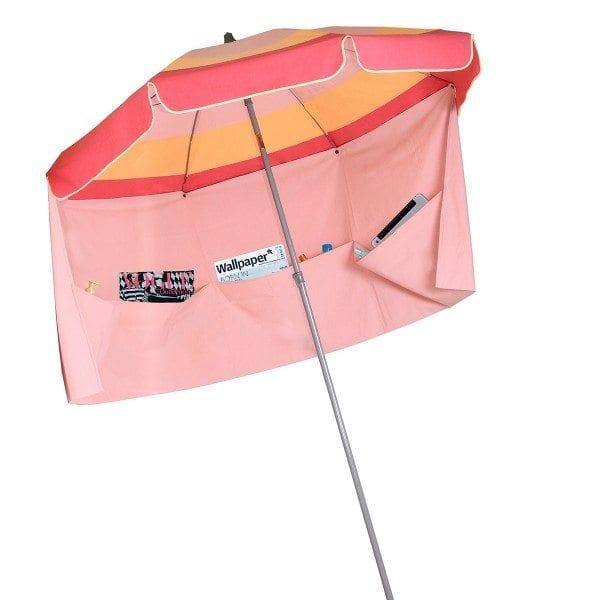 rose clair abricot fushia miami parasol de plage