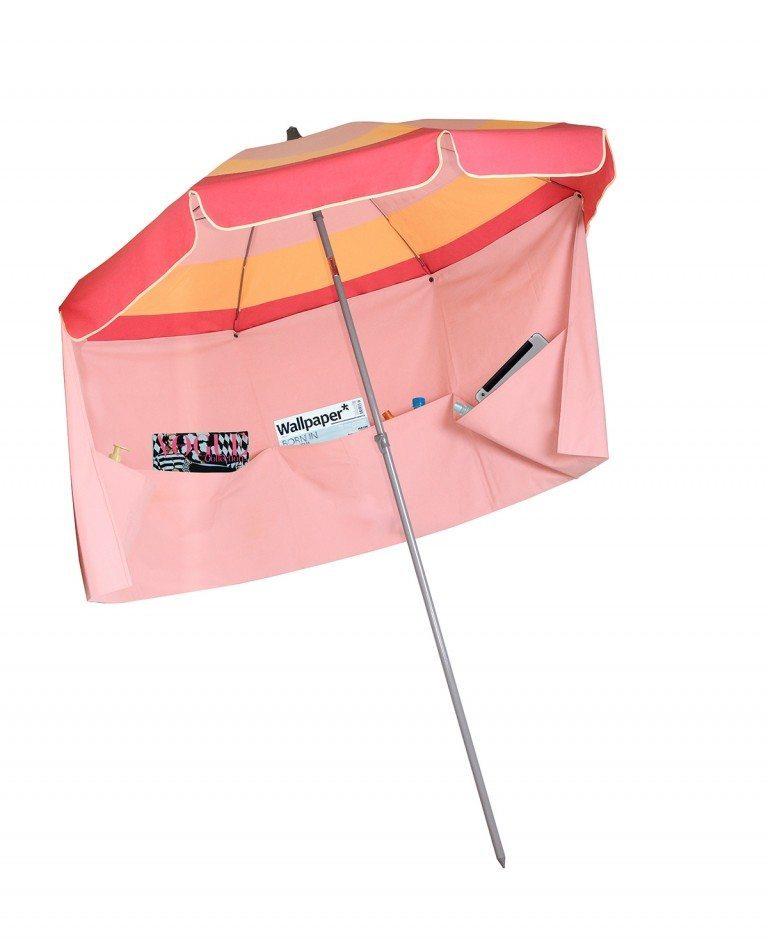 parasol de plage Miami avec jupe antivent Accessoire de Soleil