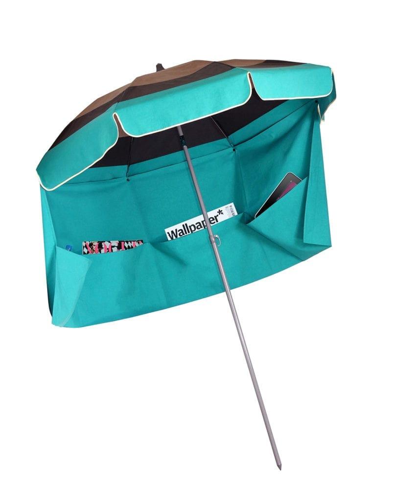 taupe gris turquoise paris parasol de plage