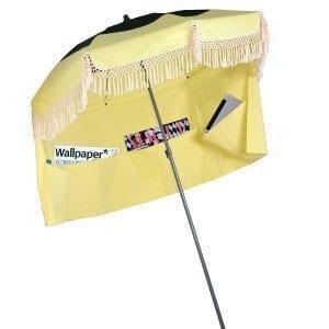 vert bouteille jaune pale palm spring parasol de plage