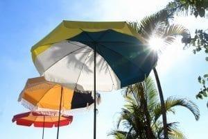 Parasol haut de gamme pliable et transportable accessoire de soleil