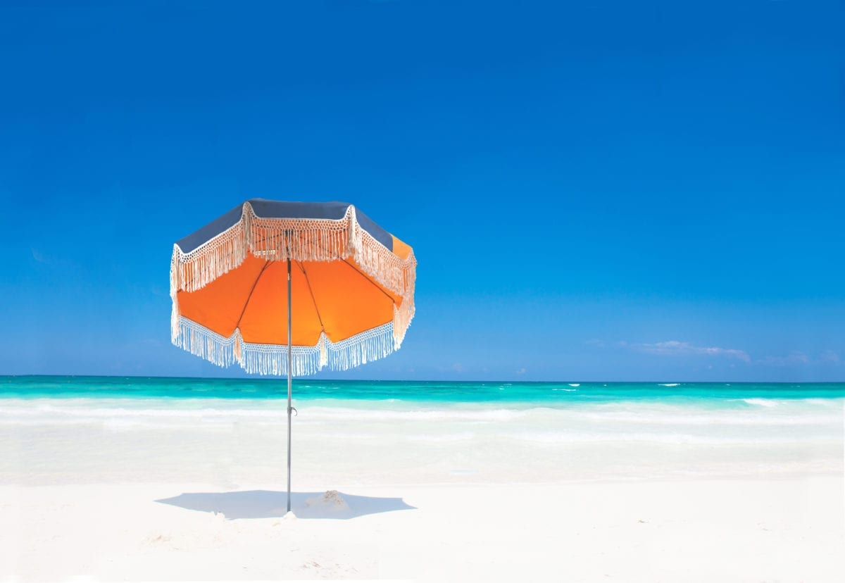 Parasol de plage haut de gamme Pondichery - Accessoire de Soleil