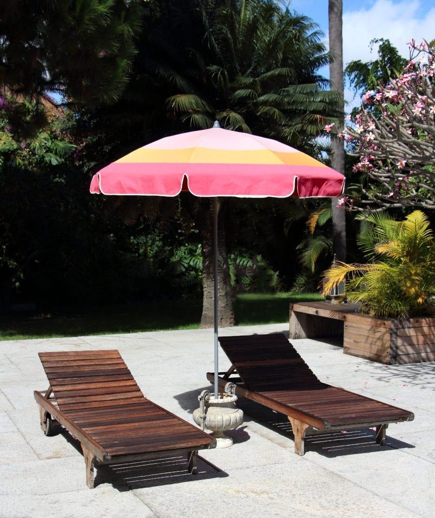 Parasol rond design Accessoire de Soleil - parasol jardin inclinable